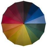 Regenboog paraplu met haak._