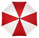 Falcone golf paraplu Rood - Wit_