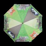 paraplu met 4 verschillende poezen
