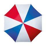 Golfparaplu Rood - Wit - Blauw_