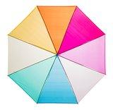 Doorzichtige Regenboogparaplu - Blauw_