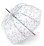 Esprit doorzichtige paraplu Pink Glow