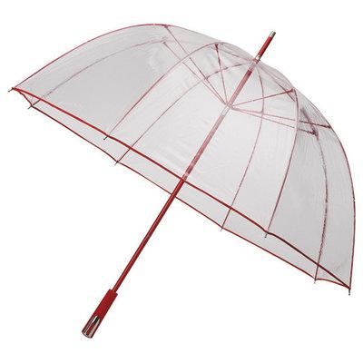 Doorzichtige golfparaplu Rood