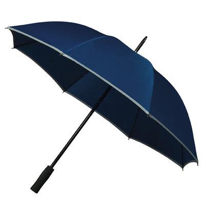 Golfparaplu met reflecterende rand - Blauw