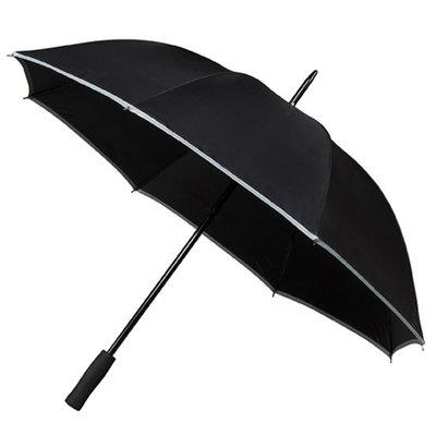 Golfparaplu met reflecterende rand - Zwart