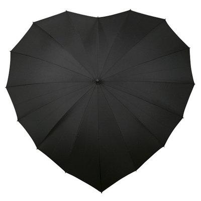 Hart paraplu zwart