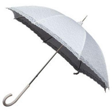 Kanten witte paraplu