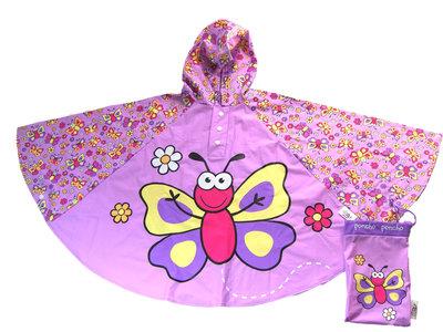 Bugzz kinder regenponcho Vlinder
