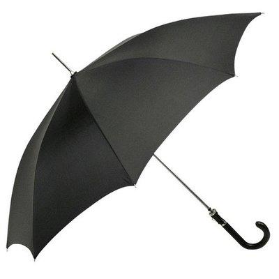 Zwarte herenparaplu met haak