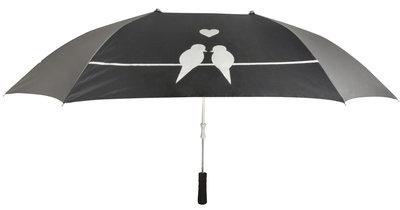 Duo paraplu zwart love birds