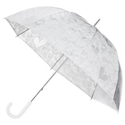 Doorzichtige witte kanten paraplu