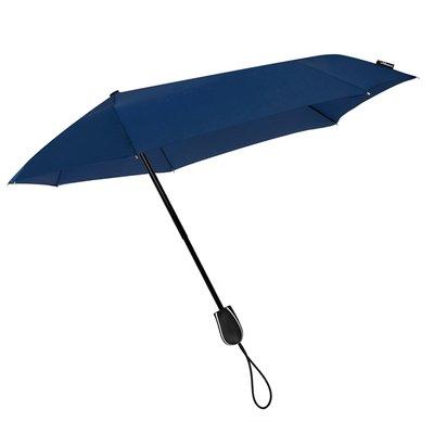 Stormini aerodynamische opvouwbare stormparaplu - donkerblauw