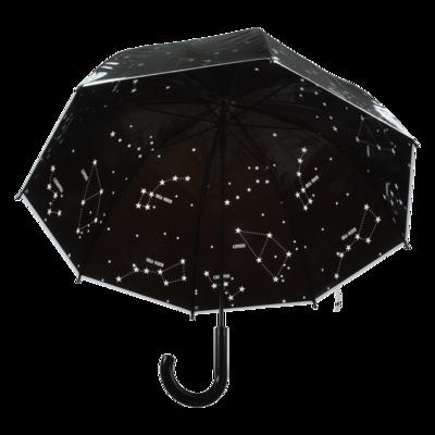 Paraplu transparant sterrenhemel