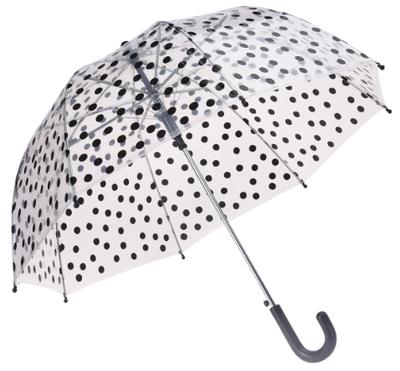 Doorzichtige kinderparaplu met stippen