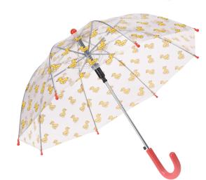 Doorzichtige kinderparaplu eend