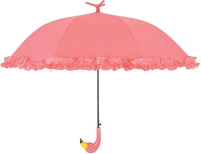 Flamingo paraplu met roesjes