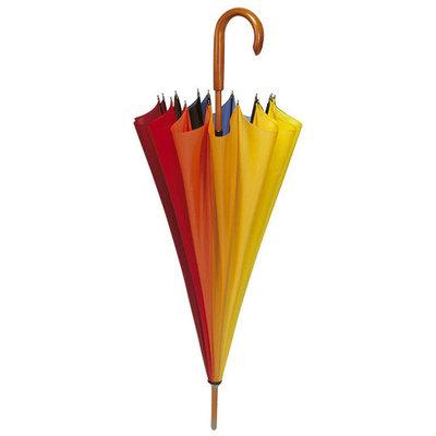 Regenboog paraplu met haak.
