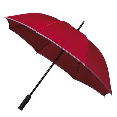 Golfparaplu met reflecterende rand - Rood