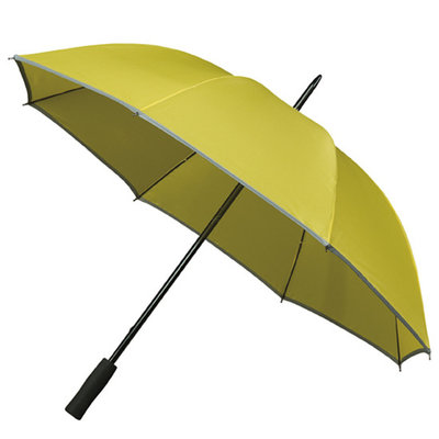 Golfparaplu met reflecterende rand - Geel