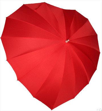 Hart paraplu met bedrukking