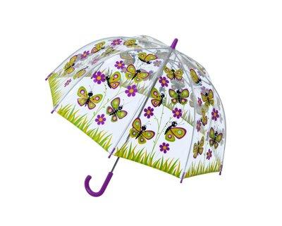 Bugzz doorzichtige paraplu Vlinder