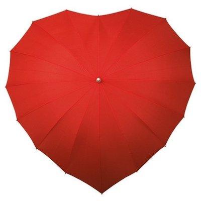 Hart paraplu rood