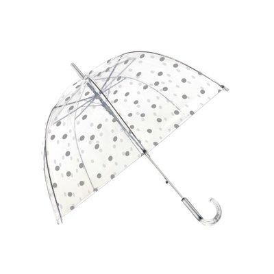 Doorzichtige paraplu stippen zilver - Smati