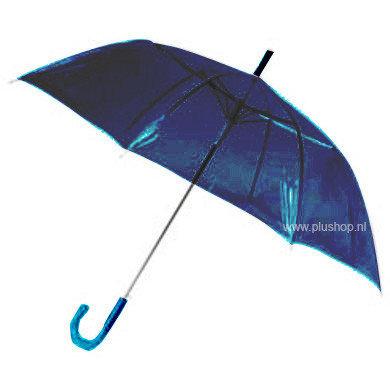 Transparante paraplu - Blauw