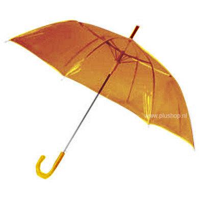 Transparante paraplu - Oranje