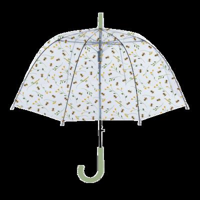 Doorzichtige paraplu met bijenprint