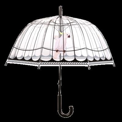 Doorzichtige paraplu vogelkooi