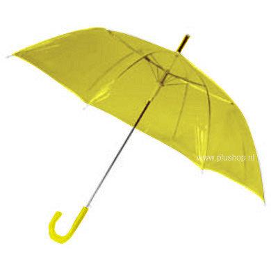 Transparante paraplu - Geel