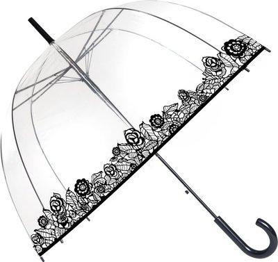 Doorzichtige paraplu kant/bloemen - Smati