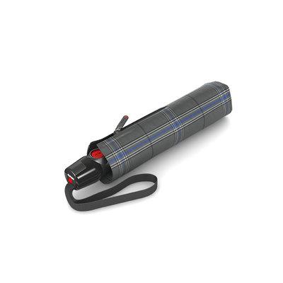 Knirps T200 grijs geruit medium duomatic
