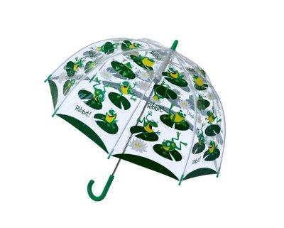 Bugzz doorzichtige paraplu kikker