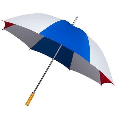 Golfparaplu Rood - Wit - Blauw