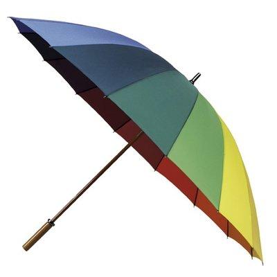 Regenboog Golfparaplu XL