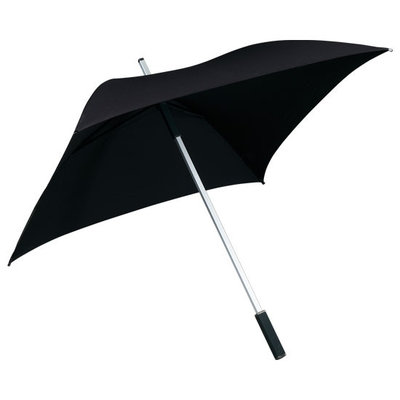 Vierkante paraplu zwart - ALL SQUARE