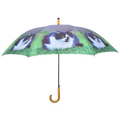Paraplu Kat - Zwart/Wit