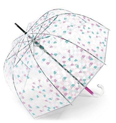 Esprit doorzichtige paraplu - roze