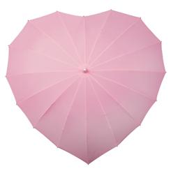 Hart paraplu licht roze
