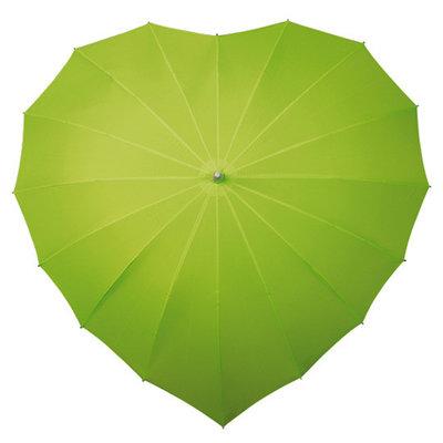Hart paraplu groen