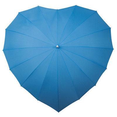 Hart paraplu blauw