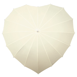 Hart paraplu gebroken wit