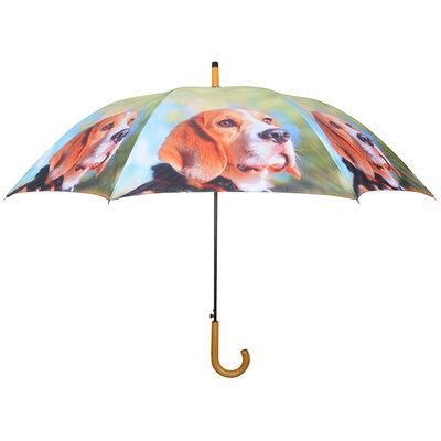Honden Paraplu - Bruin/wit