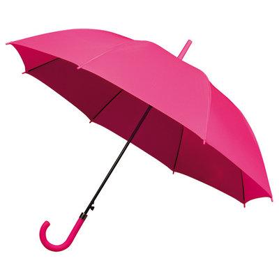 Golfparaplu met haak Roze