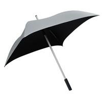 Vierkante paraplu zilver/zwart - ALL SQUARE