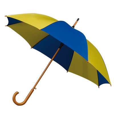 Luxe paraplu Blauw/Geel