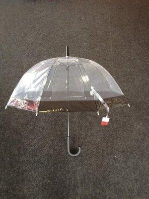 Rainy Days doorzichtige paraplu met haak zwart