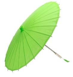 Papieren paraplu Groen